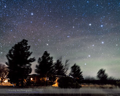 The Two Dippers over Quailway Cottage (paulootavioce) Tags: arizona rising nightscape cottage constellations bigdipper polaris northernsky northstar dippers littledipper quailway airglow ursamajorursaminor