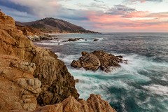 Garrapata Sunset (Kirk Lougheed) Tags: ocean california statepark sunset usa seascape water landscape coast unitedstates pacific outdoor shoreline bigsur rocky shore jagged garrapatastatepark garrapata