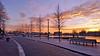 20160119_Waterlijn zonsopkomst winter (1) (GemeenteUithoorn) Tags: winter cold holland ice frozen frost bevroren nederland amstel landschap noordholland ijs koud landschappen waterlijn uithoorn zonsopkomst hollandse vriezen dekwakel dorpscentrum molenvaart