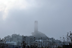 Coit Tower in the fog (Anosmia) Tags: sanfrancisco california coittower