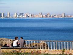 Cabo de Palos - Cartagena (Ruben Juan) Tags: sea people espaa canon landscape mar spain sitting paisaje powershot murcia sit seated cartagena g12 cabopalos