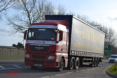 MAN TGX 'Peterson' reg SV11 BUU (erfmike51) Tags: lorry artic peterson curtainside mantgx