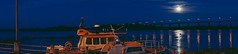 8/52 (Leonel Saya Fotografa) Tags: bridge panorama moon water night river coast ship sony voigtlander panoramic 28 reflextion a7ii 40mmf14 dogwood52 dogwoodweek8