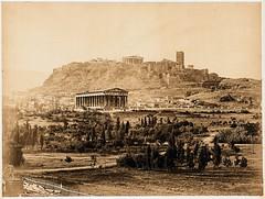Thiseion+Acropolis ca. 1870 (Moraitis) (MB-E) Tags: athens acropolis 1870 thiseion moraites