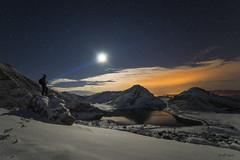 Luz de luna (tailfox32) Tags: espaa lake snow night de stars spain nieve asturias lagos nocturna covadonga lagoenol sonya7 samyang14mmf28