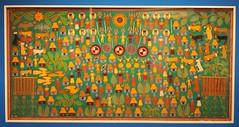 Huichol Yarn Painting Mexico (Teyacapan) Tags: museum mexico crafts artesanias huichol mexicanfolkart wixarika yarnpaintings