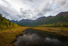 Eagle River (Waldemar*) Tags: autumn trees usa mountains fall nature alaska clouds trekking river season landscape nikon scenery outdoor hiking scenic foliage anchorage eagleriver riverbanks afs1635mmf4gvr d800e