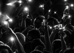 Light it Up! (micadew) Tags: blackandwhite bw monochrome beautiful blackwhite interesting concert phone cellphone flashlight concerts mic bnw micadew interestingmicadew