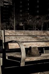 loneliness (trecepuntocero) Tags: canon urbana soledad sombrero misterio cursofotografia 1100d centrocomercialaragonia