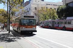 1976 Flyer E800 # 5300 (busdude) Tags: bus electric coach flyer san francisco trolley railway muni municipal trolleybus e800 muniheritage