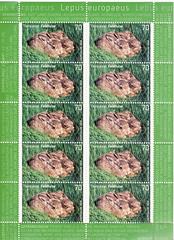 Tierkinder Feldhase (postcardlady1) Tags: stamps briefmarken