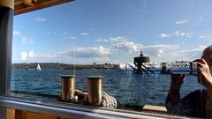 On the Manly ferry (boeckli) Tags: windows reflection water fenster sydney spiegelung fhre sydneyharbour windowwednesdays