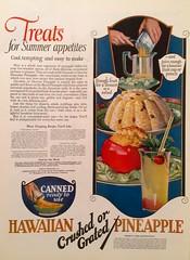 """Treats for Summer Appetites"" (saltycotton) Tags: 1920s fruit vintage magazine tomato recipe ad advertisement pineapple 1923 modernpriscilla"