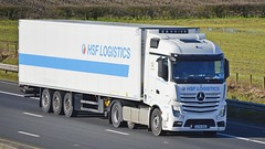 AY14 KHZ (panmanstan) Tags: truck wagon mercedes motorway yorkshire transport lorry commercial vehicle freight sandholme mp4 refrigerated m62 haulage hgv actros