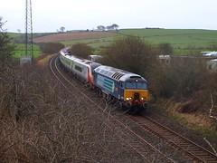 Garrochburn -  07-02-2016 (agcthoms) Tags: scotland trains railways ayrshire virgintrains drs class390 class57 garrochburn 57302 390152 directrailsystems