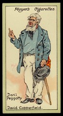 Cigarette Card - Daniel Peggotty (cigcardpix) Tags: vintage advertising ephemera dickens cigarettecards