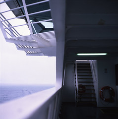 Bridge (LunaliteSBC) Tags: sea 6x6 film ferry analog lens fuji australia slide victoria slidefilm velvia rainy bronica transparency vintagecamera fujifilm filmcamera nikkor sorrento e6 oldcamera queenscliff fujivelvia50 bronicas2a 6x6slide filmphotographyproject