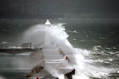 Brixham Breakwater (Antony Clarke) Tags: lighthouse storm canon eos high waves tide windy devon 7d mk2 dslr breakwater brixham torbay
