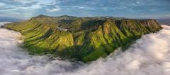The Magical Plateau (Matt in Malawi) Tags: africa panorama terrain sun mountain nature weather clouds sunrise river scenery hill aerial malawi zomba mw drone exposureblending p3a southernregion mulunguzidam mulunguzistream