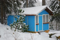 (Sameli) Tags: winter summer house snow building architecture suomi finland helsinki cabin turquoise hut