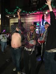 Tres Amigos on Bourbon Street:  Mardi Gras New Orleans 2016 (Eddie C Morton) Tags: tits neworleans bitch ugly bourbonstreet mardigras