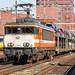 Locon 9904 met BLG Autotrein met Kia's, Amersfoort 14 maart 2016