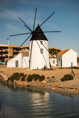 Lo Pagan Windmill (Jillcolms) Tags: sea sky water weather outdoors spain scenic windmills murcia marmenor sanpedro lopagan costaclida