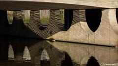 Week 8: Spiegeling bij viaduct Noorderbreedte (dorsman1970) Tags: water licht nederland brug schaduw architectuur lijnen spiegeling patroon vredig capelleaandenijssel oostgaardem
