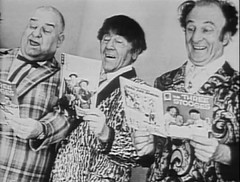 Three Stooges reading comics (Michael Vance1) Tags: comics funny comicbooks threestooges cartoonist comedians