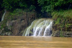 Waterfall on the Chagres River near the Embera Indians, Jungles of Panama (Joseph Hollick) Tags: jungle panama embera emberaindians