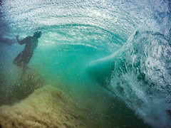 Behind The Wave Oahu Hawaii (Anthony Quintano) Tags: ocean water hawaii oahu wave shorebreak gopro sandybeachpark