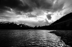 Dark clouds over Vermilion Lakes (michael__williamson) Tags: clouds banff rockymountains vermilionlakes