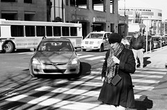 The Evil Eye (TnOlyShooter) Tags: woman film analog nashville tennessee streetphotography olympusom1 evileye kodaktrix400 olympusomzuiko50mmf18 findlab