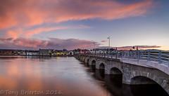 Arklow Bridge at Sunset. (Tony Brierton) Tags: bridge port river coast town seaside estuary arklow irishsea cowicklow