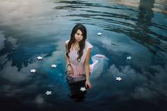 Dreaming (Je) Tags: sea portrait lake selfportrait girl canon 50mm star dream surreal atmosphere conceptual conceptualphotography jessicafavaro