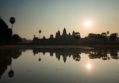 Morning Burn (Marshall Ward) Tags: summer sun reflection architecture sunrise landscape temple cambodia angkorwat temples siemreap 2016 nikond800 afszoomnikkor2470mmf28ged marshallward