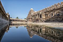 Darasuram Temple with Reflection (Sathish_Photography) Tags: architecture bluesky tamilnadu rainwater waterreflection kumbakonam darasuram dharasuram clearreflection tamilnadutemples darasuramtemple famoustemples sathishphotography cholakingdomsbuilt