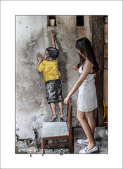 Be Quick, I'll Hold The Chair (Fermat48) Tags: malaysia penang pinang reachingup canonstreet georgetowngeorgetown ernestzacharevic