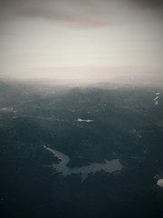 Fly (BlackGlitch) Tags: sky mountain nature clouds plane vintage dark skyscape airplane landscape flying outdoor valley iphone iphone6splus