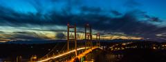 The Narrows (raymond.longtin) Tags: bridge sunset clouds washington tacoma narrows