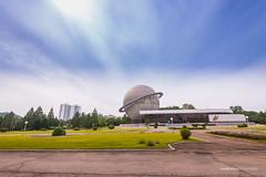 Planetarium of Three Revolution Exhibition (reubenteo) Tags: sunset building sunrise landscape asia korea communist communism kimjongil socialist socialism northkorea pyongyang kimilsung kimjongun