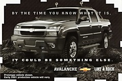 2000 Chevrolet Avalanche Prototype (aldenjewell) Tags: chevrolet truck 2000 postcard prototype avalanche