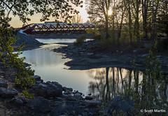IMG_7925 (Scott Martin Calgary) Tags: ca sunset canada calgary reflections alberta princesisland bowriver princesislandpark peacebridge
