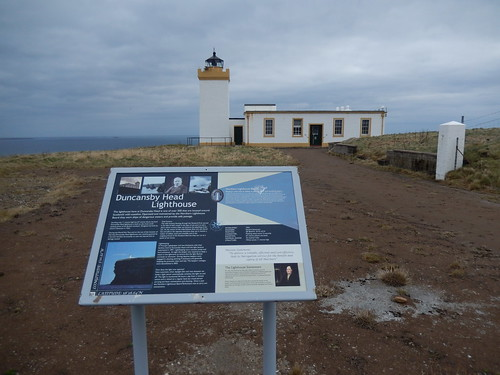 Information board at Duncansby Head Lighthouse
