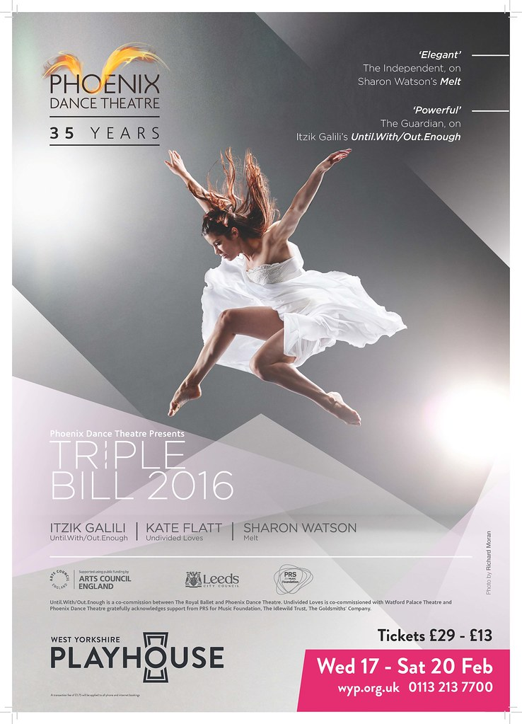 Triple Bill 2016 Phoenix Dance Theatre Tags Ballet Poster Design Contemporarydance