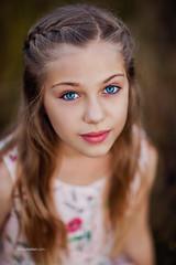 Young Beauty. (www.sergeybidun.com) Tags: blue portrait girl children kid model eyes little hairs