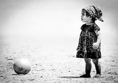 Little kicker (Dreamcatcher photos) Tags: beach ball sand child capetownsouthafrica blaauberg dreamcatcherphotos