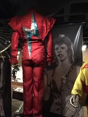 Ziggy Stardust Getup (Brian Sawyer) Tags: cleveland suit memorabilia davidbowie rockandrollhalloffame ziggystardust