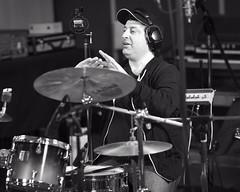2015_03_26CDSPStudiobw (47) (Don Voaklander) Tags: musician music studio drums edmonton drum bass guitar song songs recording katdanser voaklander sarahpocklington donvoaklander