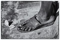 Nepal - a year after ... (alamond) Tags: nepal blackandwhite bw monochrome canon foot bare sigma disaster kathmandu 2015 brane gorkha alamond earthquke 40d zalar